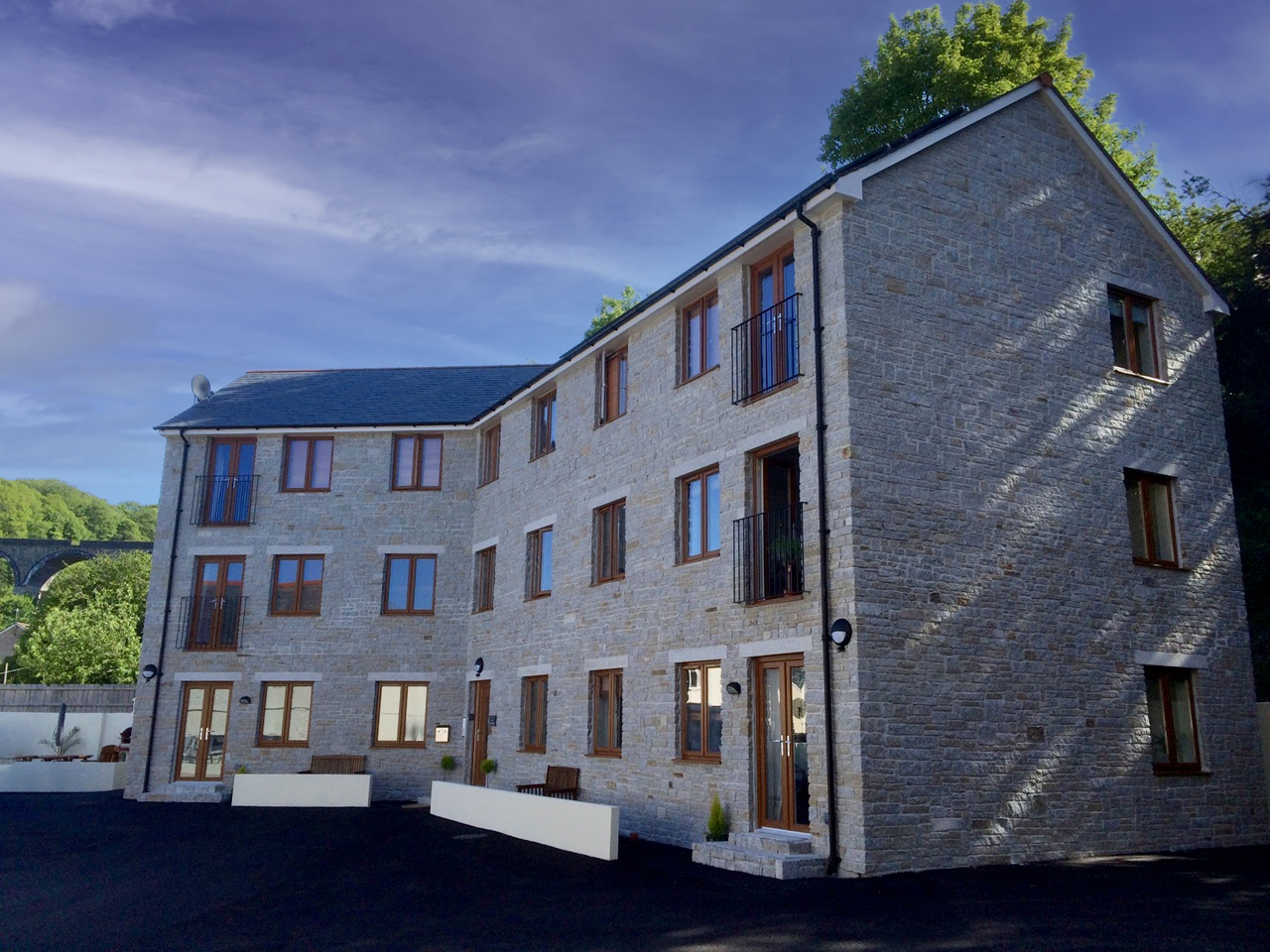 Trenance Mill apartments commercial build st Austell